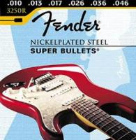 Cordes guitare électrique Fender 3250R - Super BULLETS 250s Regular 10-46 Nickelplated Steel - Jeu de cordes