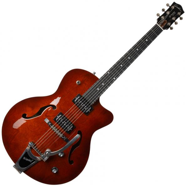 Guitare électrique 3/4 caisse & jazz Godin 5th Avenue Uptown T-Armond - Havana burst
