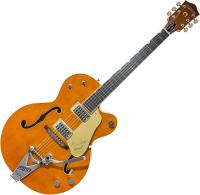 Guitare électrique hollow body Gretsch Brian Setzer G6120T-BSSMK Nashville '59 Smoke with Bigsby Japan - Smoke orange