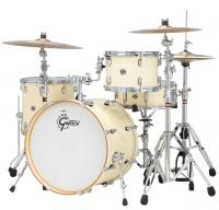 Batterie acoustique jazz Gretsch E824WC Catalina Club 3 fûts Jazz 22 Gloss White Chocolate - 4 fûts - White chocalate