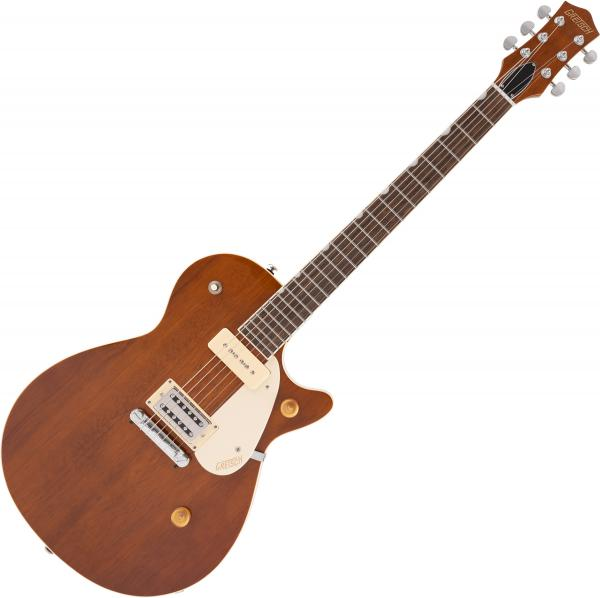 Guitare électrique solid body Gretsch G2215-P90 Streamliner Junior Jet Club - Single barrel stain