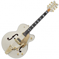 Guitare électrique caisse jazz Gretsch G6136T-LDS Falcon (Japan) - White