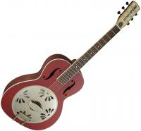 G9241 Alligator Biscuit Round-neck Resonator Fishman - Chieftain red