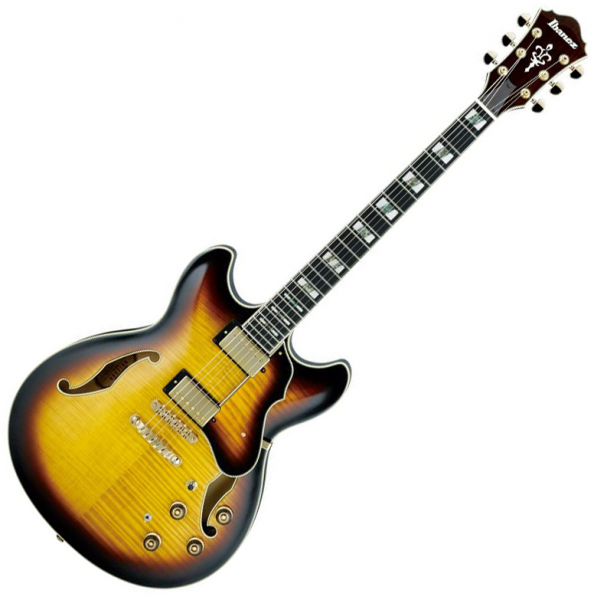 Guitare électrique 1/2 caisse Ibanez AS153 AYS Artstar - Antique yellow sunburst