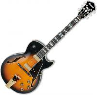 Guitare électrique caisse jazz Ibanez George Benson GB10SE BS - Brown sunburst