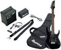 Pack guitare électrique Ibanez IJRG200 BK Jumpstart Package - Black