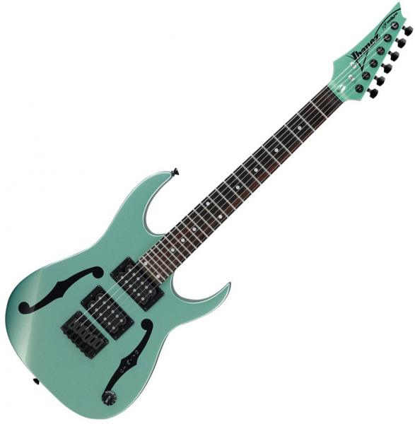 Guitare électrique voyage Ibanez Paul Gilbert PGMM21 MGN - Metallic light green