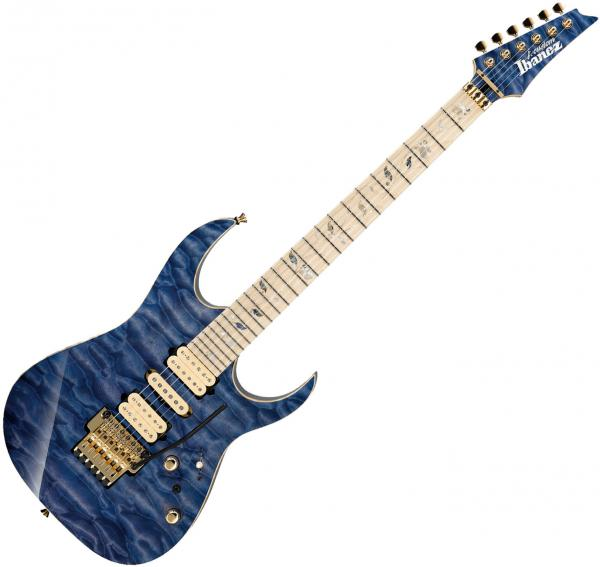 Guitare électrique solid body Ibanez R5121B14E1 01 BLE J.Custom Japan - Bluish purple hauyne