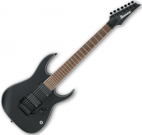 Guitare électrique solid body Ibanez RGIR37BE BKF Iron Label - Black flat