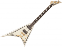 Guitare électrique solid body Jackson Rhoads Pro RRT-3 (EB) - Ivory with black pinstripes