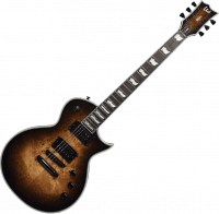 Guitare électrique solid body Ltd EC-1000 Poplar Burl Ltd - Black natural burst
