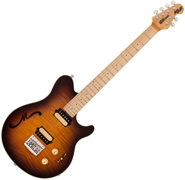 Guitare électrique solid body Music man Axis Super Sport Semi-Hollow (MN)Axis Super Sport Semi-Hollow (Hardtail ,MN) - Tobacco burst