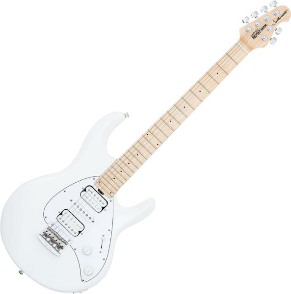 Guitare électrique solid body Music man Silhouette (MN) - White