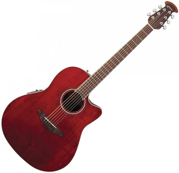 Guitare folk & electro Ovation CS24-RR Celebrity Standard - Ruby red gloss