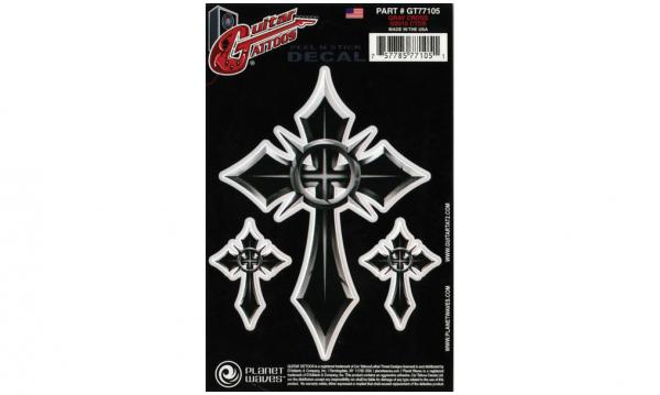 Autocollant & stickers Planet waves Guitar Tattoos Grey Cross