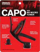 Capodastre  Planet waves NS Artist Capo with NS Micro Headstock Tuner