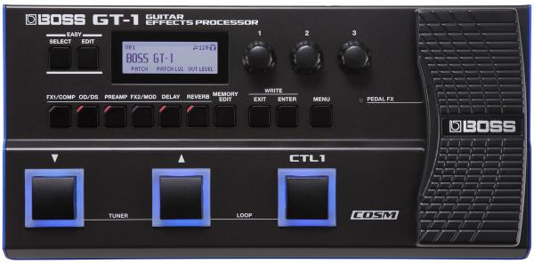 Multi effet guitare élec. en pédalier Boss GT-1 Guitar Effects Processor