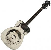 SO-998-EF Style-0 Metal Body Resonator - Engraved flower pattern