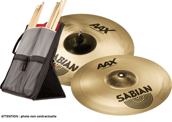 Pack cymbales Sabian PACK CRASH XPLOSION 16 + 18 + HOUSSE STICKFLIP