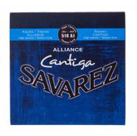 Cordes guitare classique nylon Savarez 510AJ Alliance Cantiga High Tension - Jeu de cordes