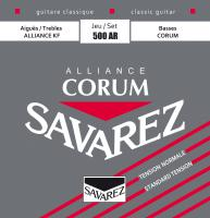 Cordes guitare classique nylon Savarez Classic (6)  500AR corum alliance red - tension normale - Jeu de cordes