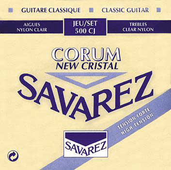Cordes guitare classique nylon Savarez New Cristal Corum High Tension 500CJ - Jeu de 6 cordes