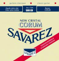Cordes guitare classique nylon Savarez New Cristal Corum Normal Tension 500CR - Jeu de cordes