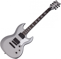 Guitare électrique solid body Schecter S-II Platinum - Satin silver