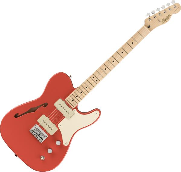 Guitare électrique 1/2 caisse Squier Paranormal Cabronita Telecaster Thinline - Fiesta red