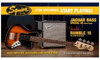 Jaguar Bass Special SS Short Scale with Fender Rumble 15 Set - Brown sunburst