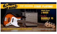Jazz Bass Affinity with Fender Rumble 15 Set - Brown sunburst