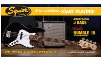 Jazz Bass Affinity with Fender Rumble 15 Set - Black