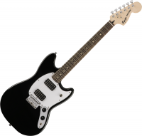 Guitare électrique solid body Squier Mustang Bullet HH - Black