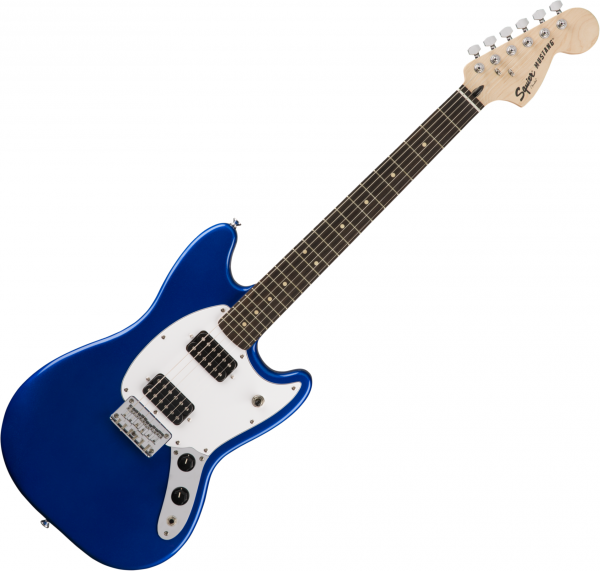 Guitare électrique solid body Squier Mustang Bullet HH - Imperial blue