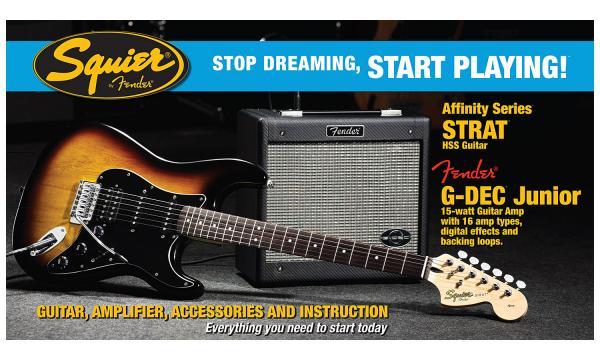 Squier Stratocaster Affinity Hss With Fender G Dec Junior Amp Set