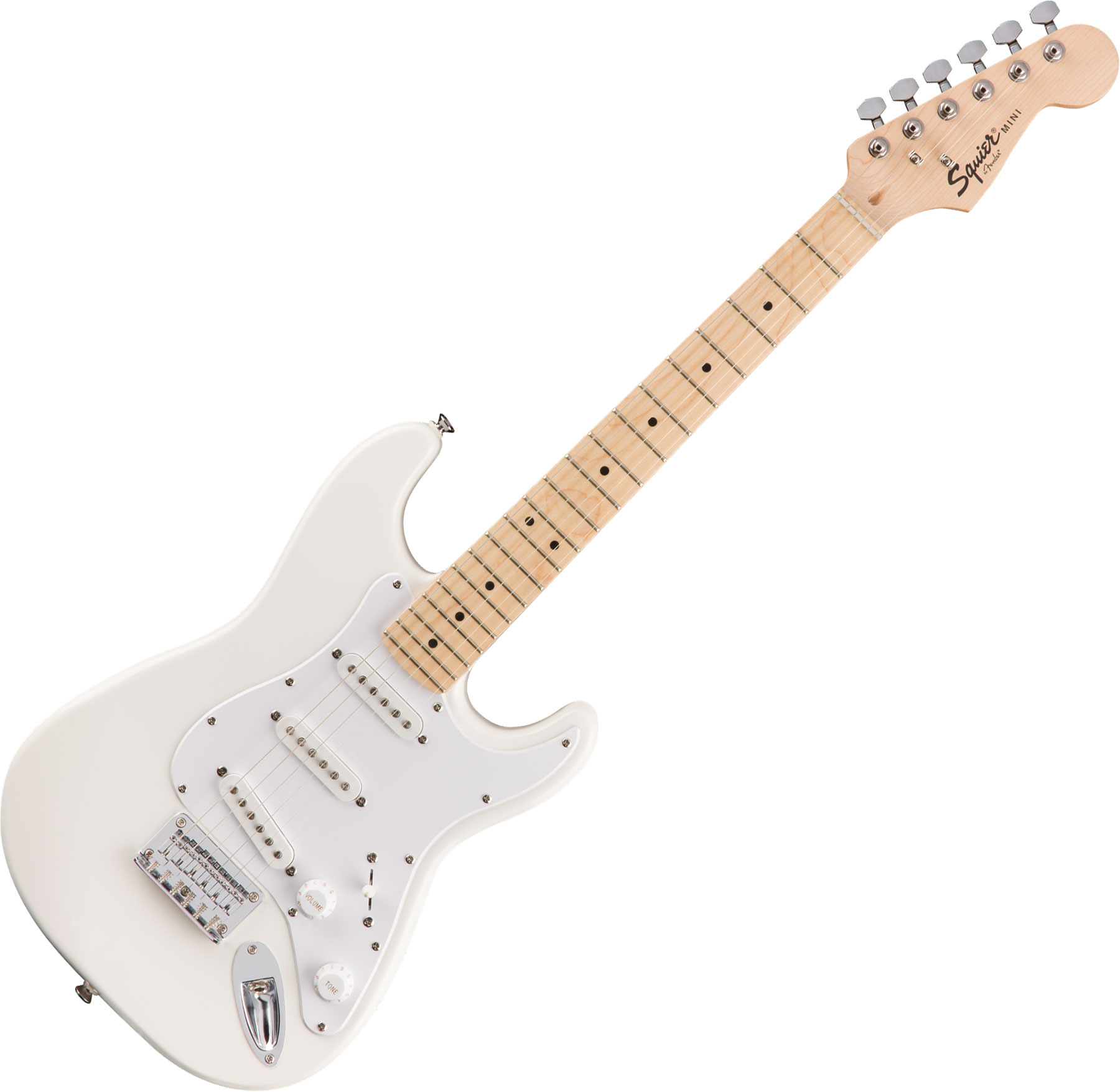 f387c72d0a Squier Mini Strat V2 FSR (MN) - olympic white. Electric guitar for kids