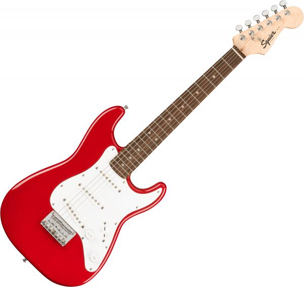 Guitare électrique solid body Squier Mini Strat V2 (LAU) - Dakota red