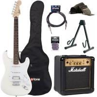 Strat Bullet HT HSS + Marshall MG10G + access X-Tone - Arctic white