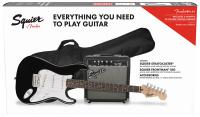 Pack guitare électrique Squier Stratocaster Pack 2018 - Black