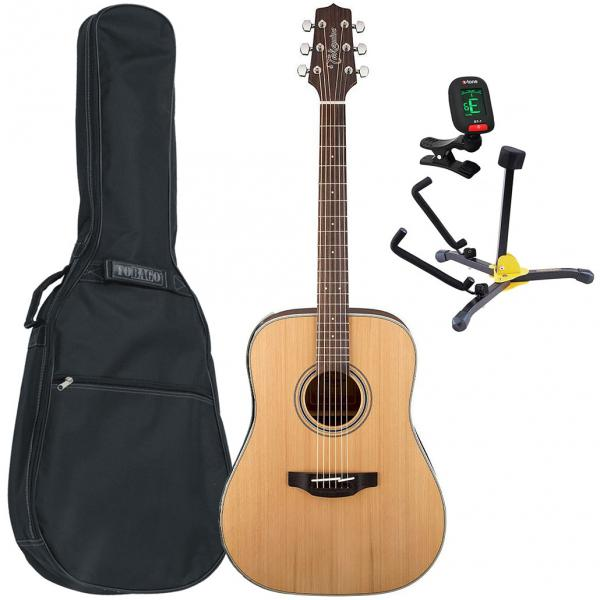 Pack guitare acoustique Takamine GD20-NS Pack (+accordeur +housse +stand) - Natural