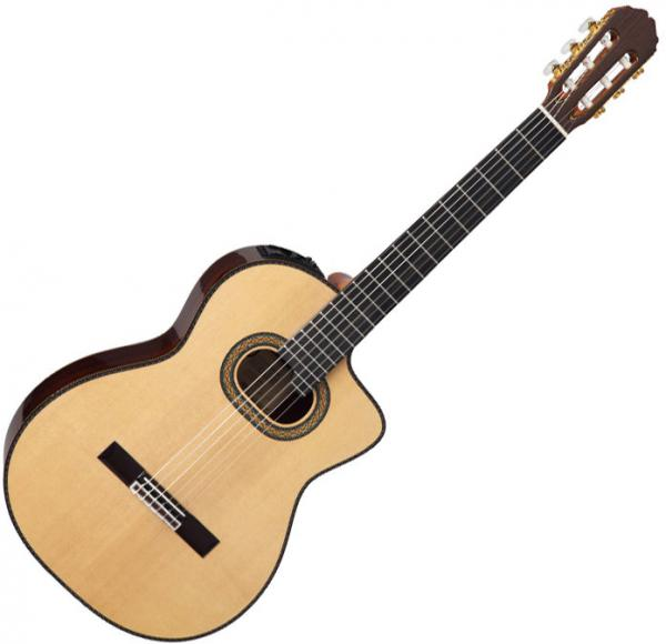 Guitare classique format 4/4 Takamine TH90 Hirade (Japan) - Natural gloss