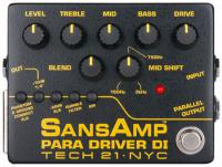 Pédale overdrive / distortion / fuzz Tech 21 SansAmp Para Driver DI Version 2