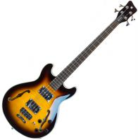 Basse électrique hollow body Warwick Rockbass Star Bass Set Neck Flame Maple +Bag - Vintage sunburst