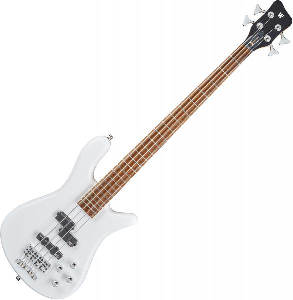 Basse électrique solid body Warwick Rockbass Streamer LX 4 String +Bag - Solid white