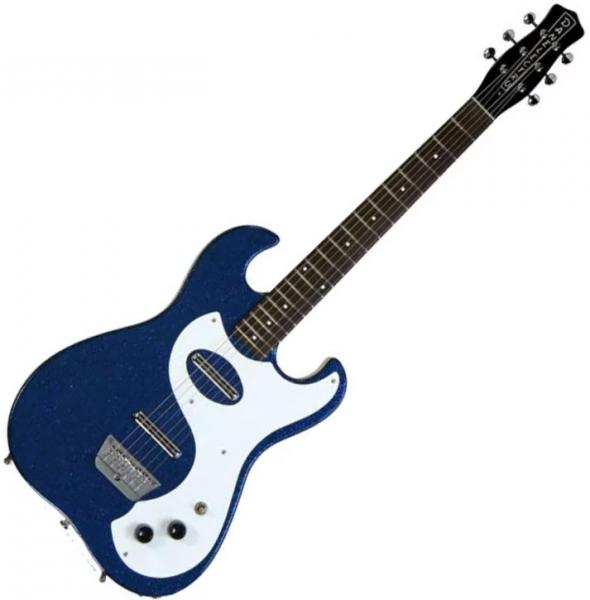 Guitare électrique solid body Danelectro '63 Dano - Blue metal flake