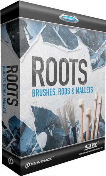 Instrument virtuel Toontrack Roots Brushes Rods Mallets SDX