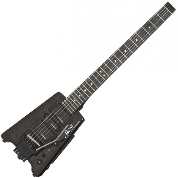 Guitare électrique voyage Steinberger GT-PRO Quilt Top Deluxe Outfit +Bag - Trans black