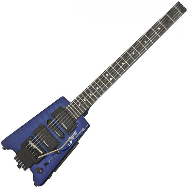 Guitare électrique voyage Steinberger GT-PRO Quilt Top Deluxe Outfit +Bag - Trans blue