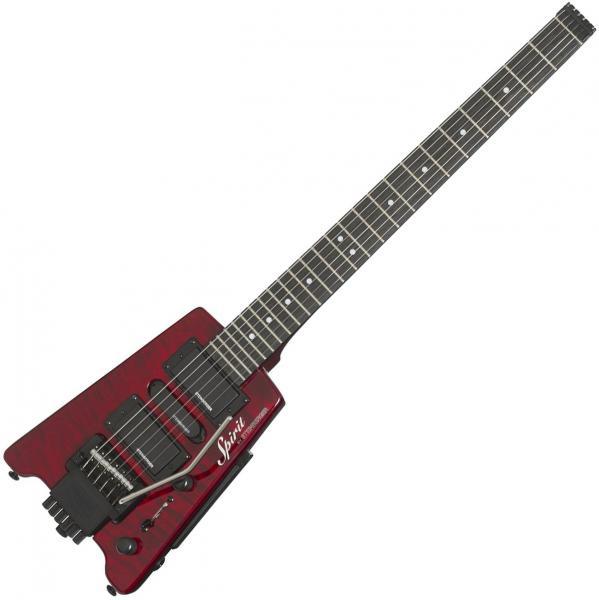 Guitare électrique voyage Steinberger GT-PRO Quilt Top Deluxe Outfit +Bag - Wine red