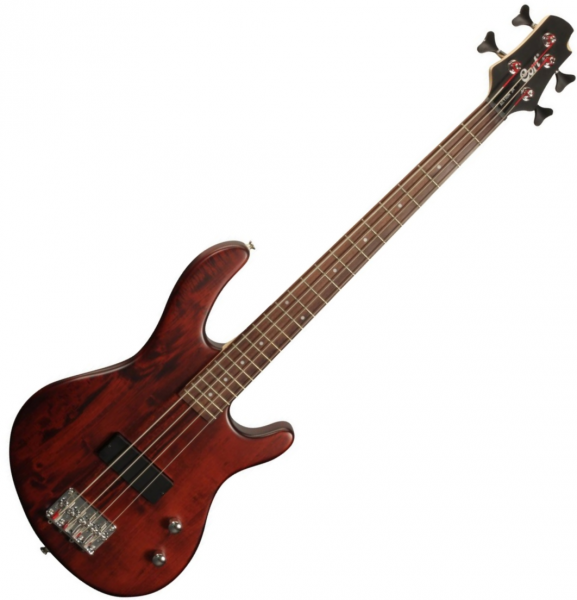 Basse électrique solid body Cort Action Junior - bordeaux
